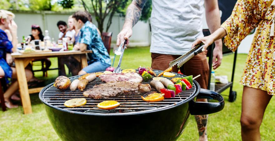 Houtskool barbecue